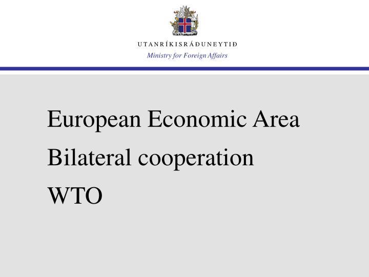 European economic area bilateral cooperation wto