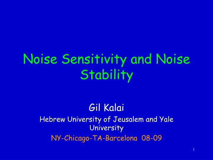 noise sensitivity and noise stability n.