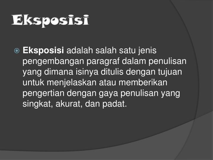 Ppt Wacana Eksposisi Powerpoint Presentation Id 5074305