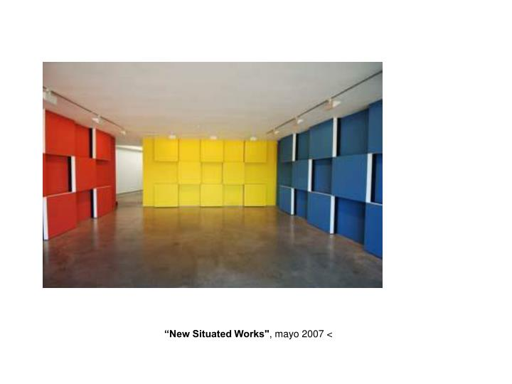"""""""New Situated Works"""""""