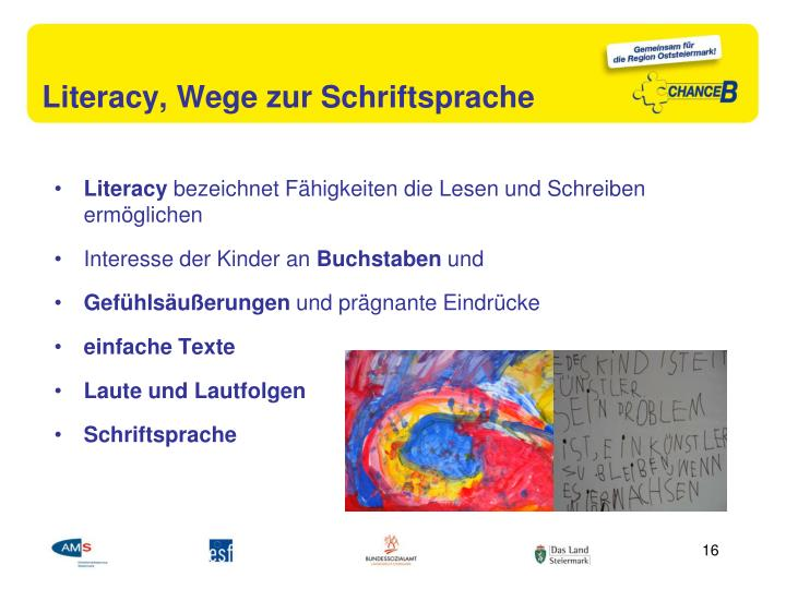 Literacy, Wege zur Schriftsprache