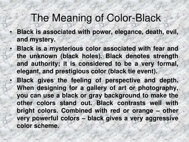 The Meaning of Color-Black