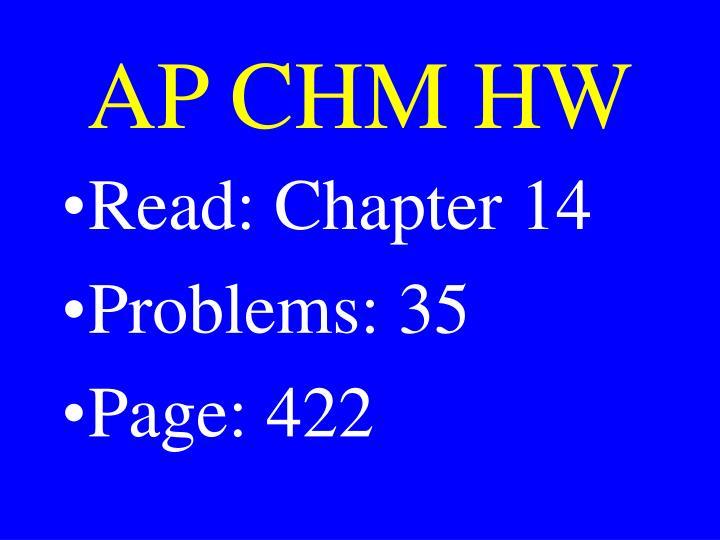 AP CHM HW