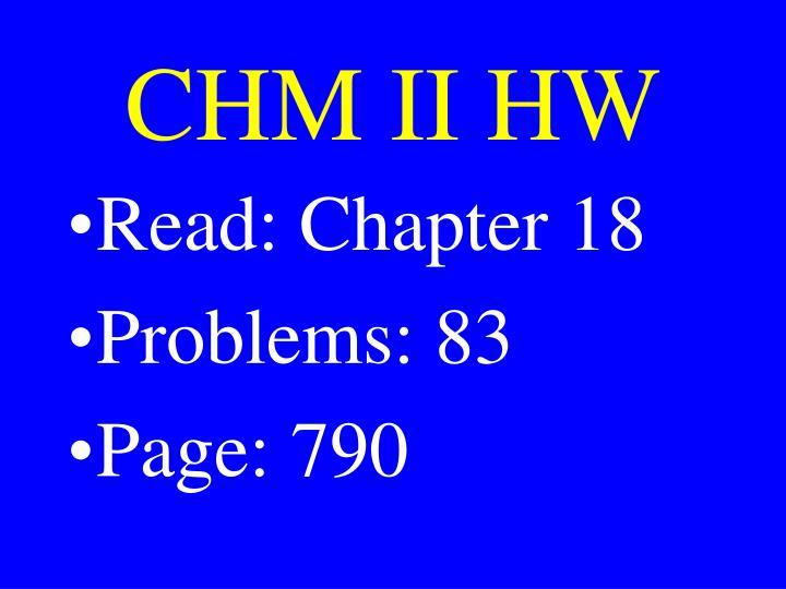 CHM II HW