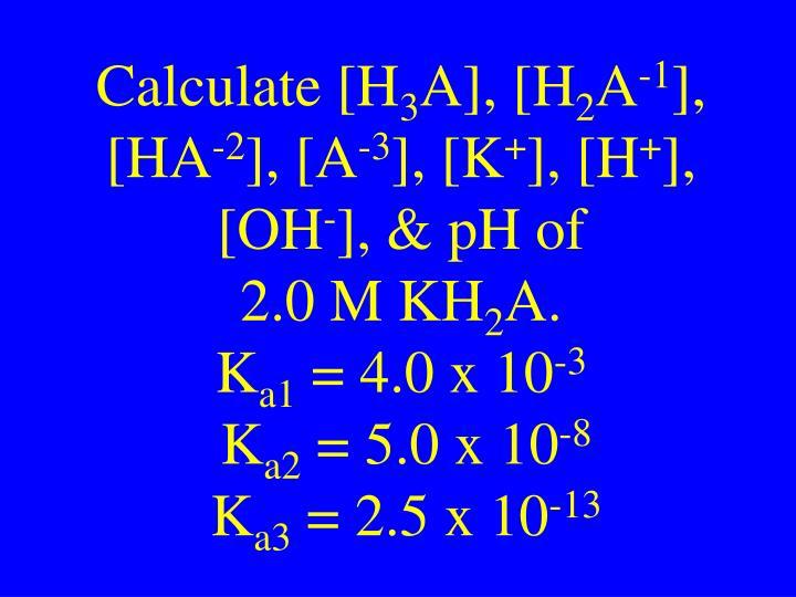 Calculate [H