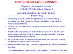 consumer education program experience in re creative learning milki fest for school children3