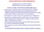 consumer education program experience in re creative learning milki fest for school children5