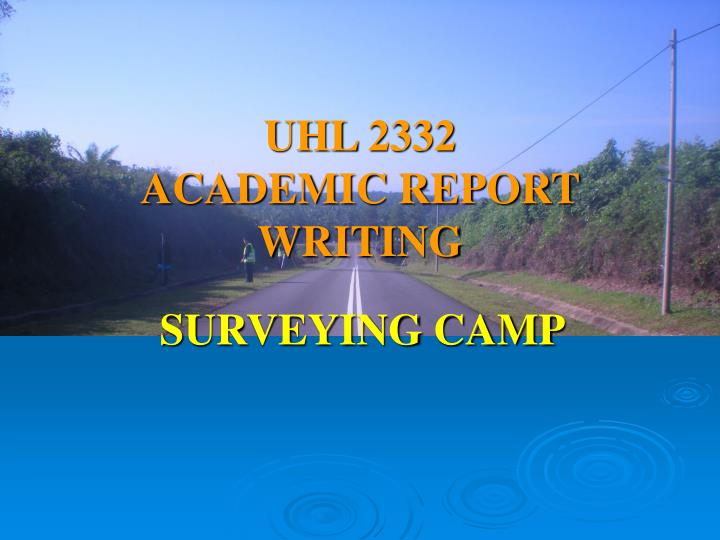 uhl 2332 academic report writing n.