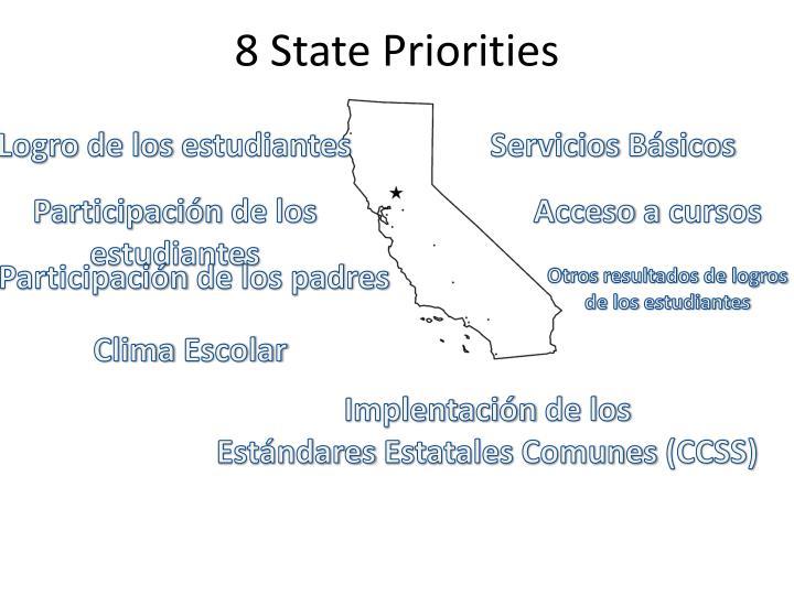 8 State Priorities