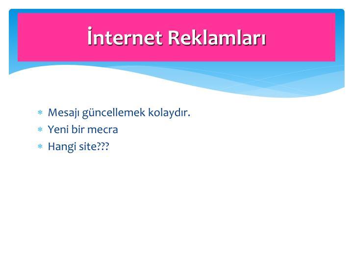 İnternet Reklamları