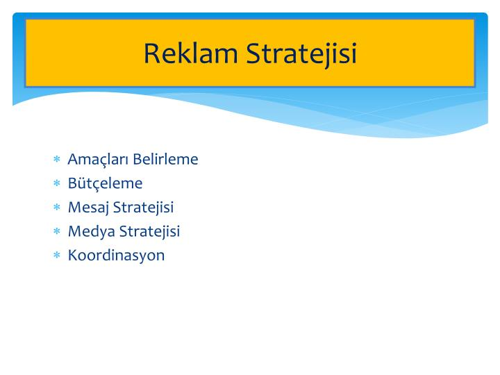 Reklam Stratejisi