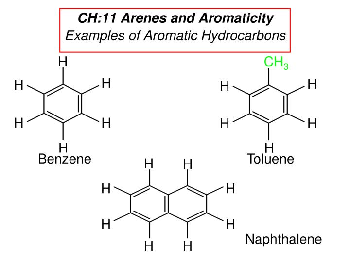 ch 11 arenes and aromaticity examples of aromatic hydrocarbons n.