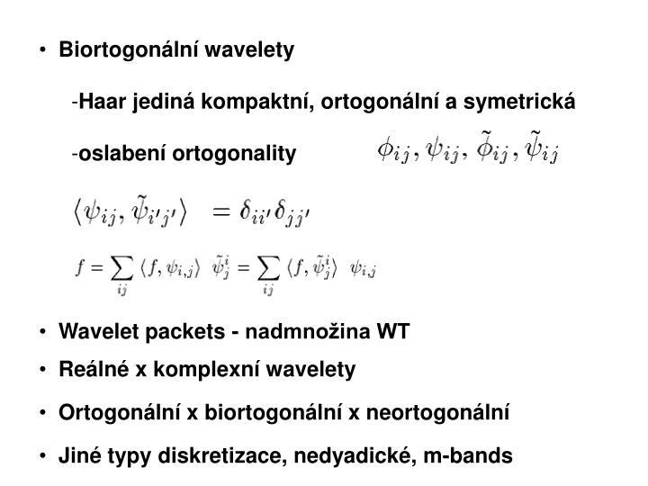 Biortogonální wavelety