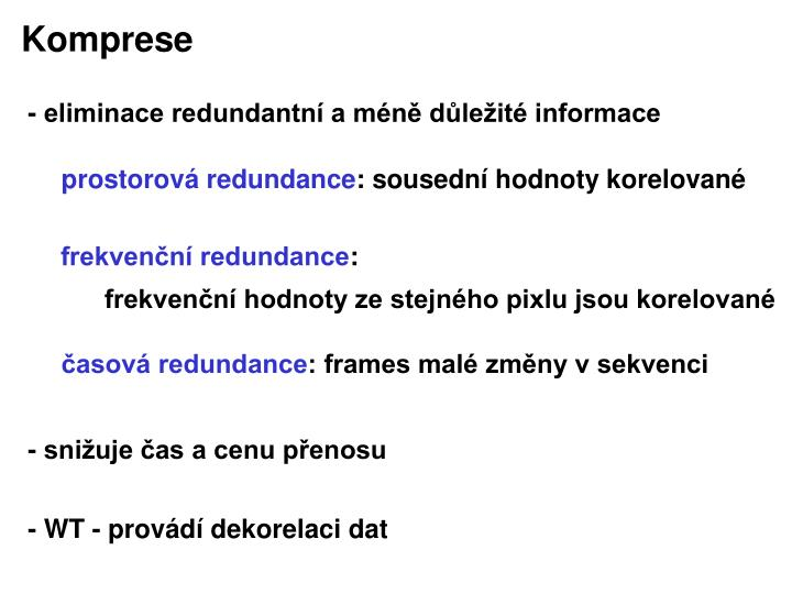 Komprese
