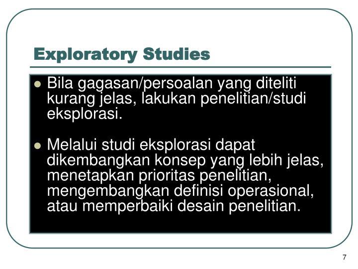 Exploratory Studies