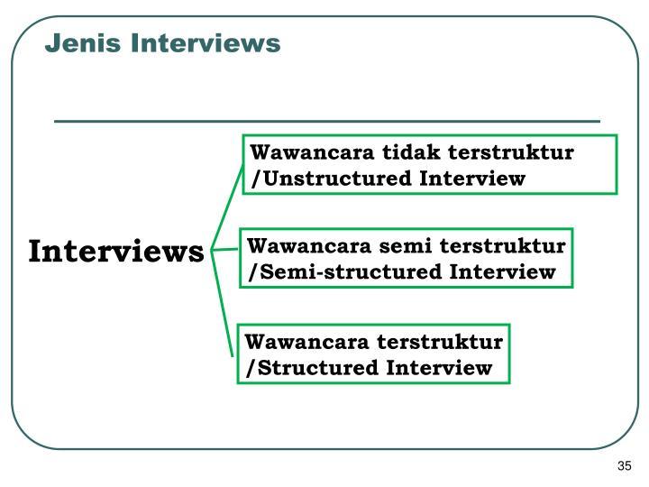 Jenis Interviews
