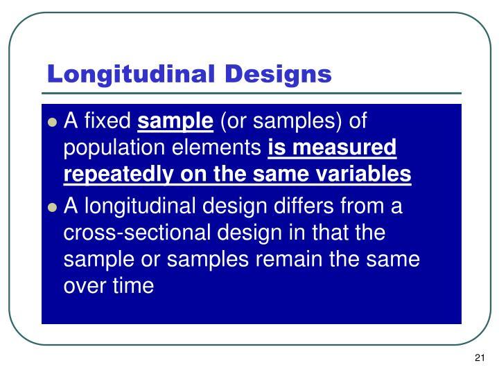 Longitudinal Designs
