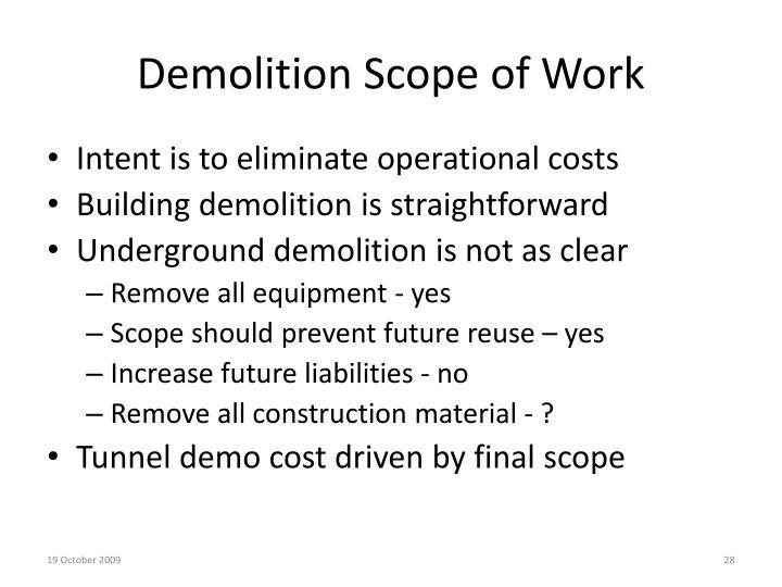 Demolition Scope of Work