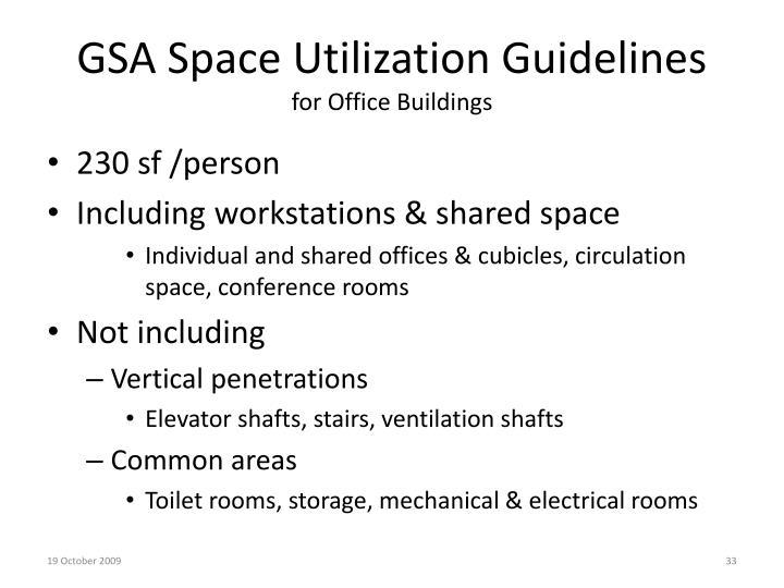GSA Space Utilization Guidelines