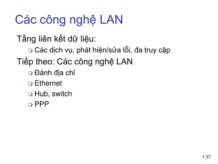 Các công nghệ LAN