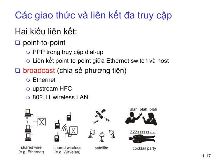 Các giao thức và liên kết đa truy cập