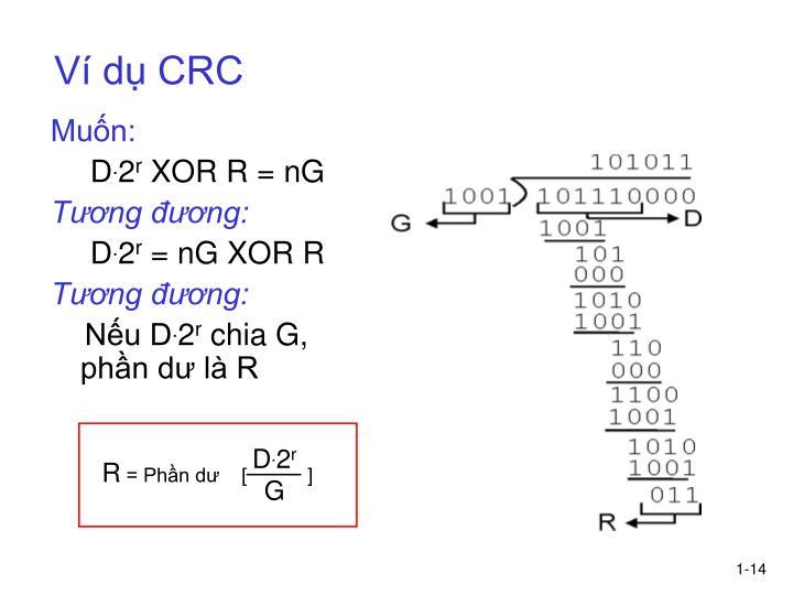 Ví dụ CRC