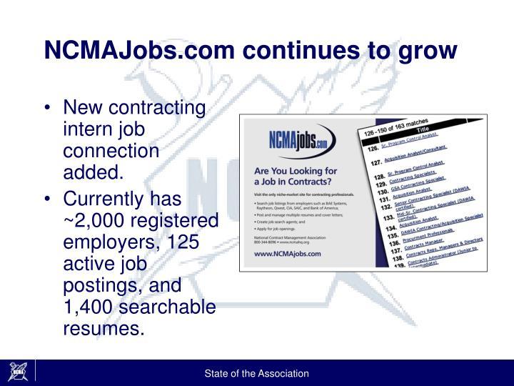 NCMAJobs.com continues to grow