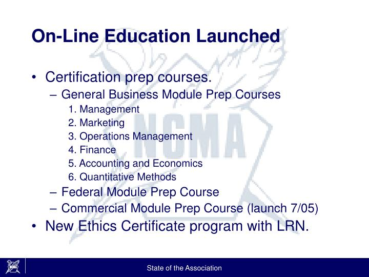 On-Line Education Launched