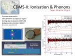 cdms ii ionisation phonons