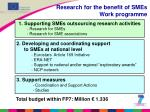 research for the benefit of smes work programme