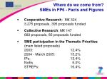 where do we come from smes in fp6 facts and figures
