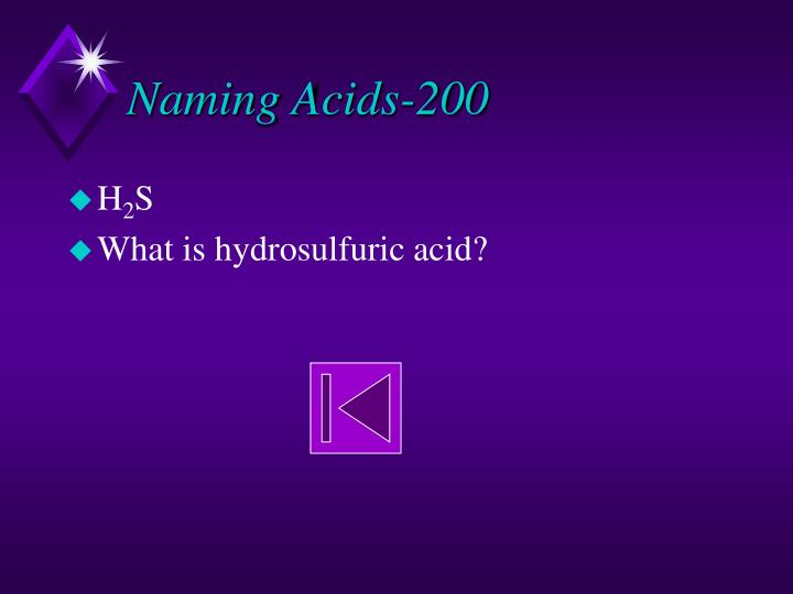 Naming Acids-200