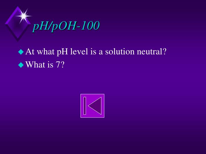 pH/pOH-100