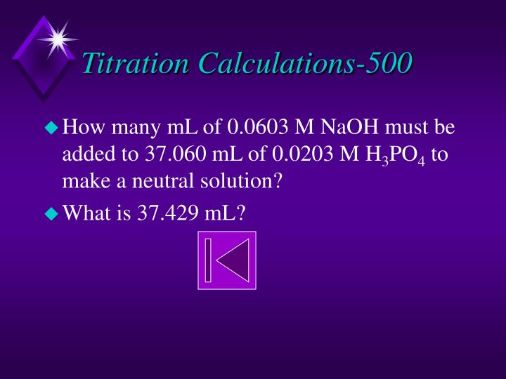 Titration Calculations-500