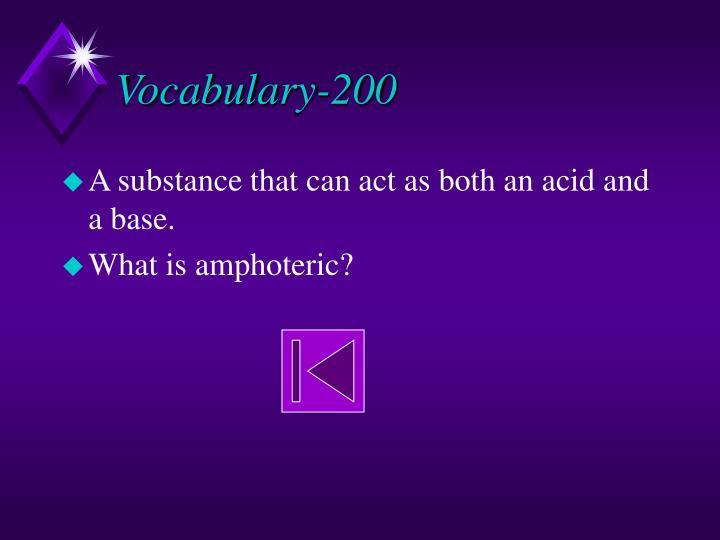 Vocabulary-200