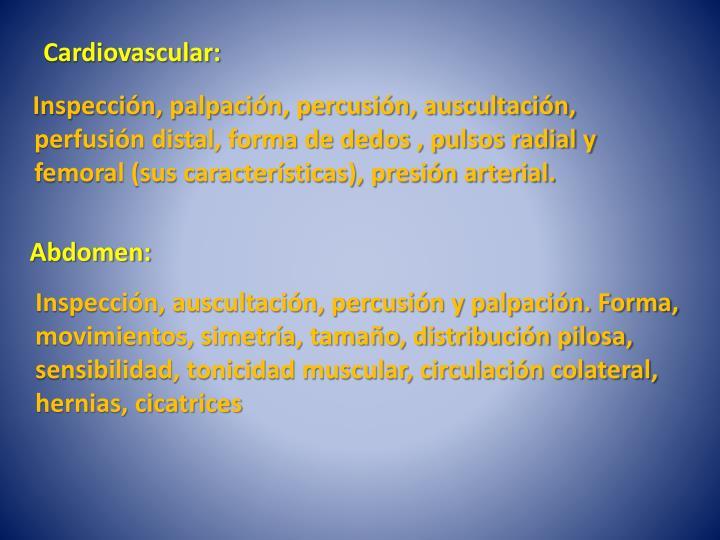 Cardiovascular: