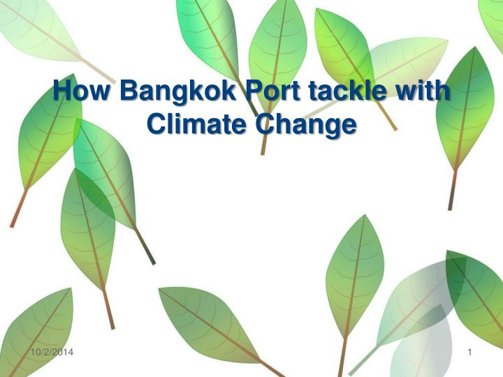 how bangkok port tackle with climate change