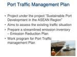 port traffic management plan