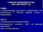a magyar gazdas gpolitika 1945 1989 k z tt iii