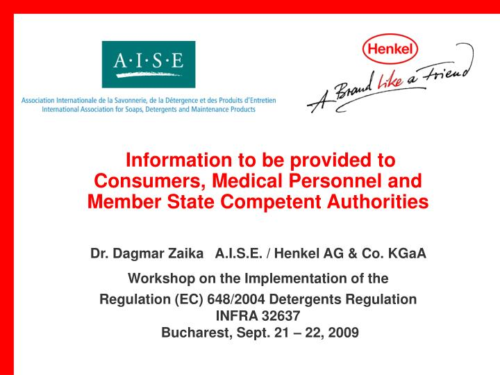 Information to be provided to consumers medical personnel and member state competent authorities