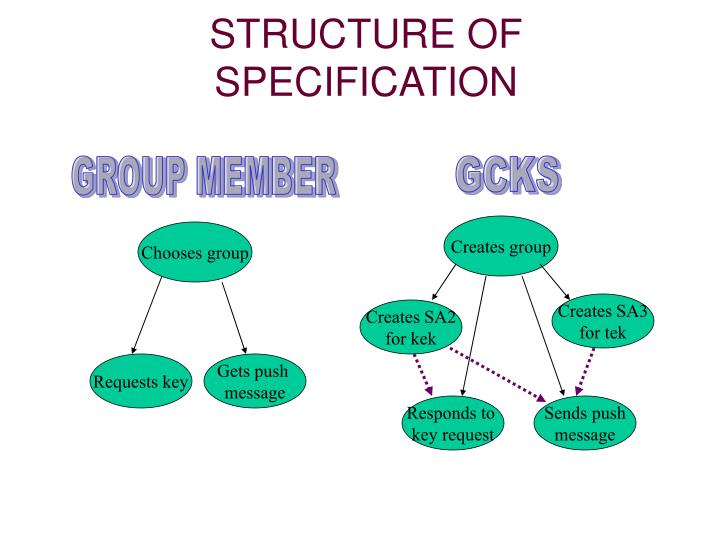 STRUCTURE OF SPECIFICATION