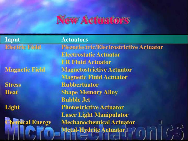 New Actuators