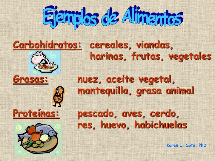 Ejemplos de Alimentos