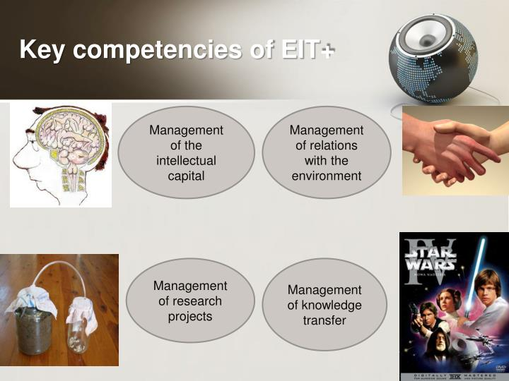 Key competencies of EIT+