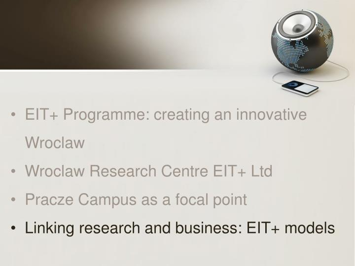 EIT+ Programme: creating an innovative Wroclaw