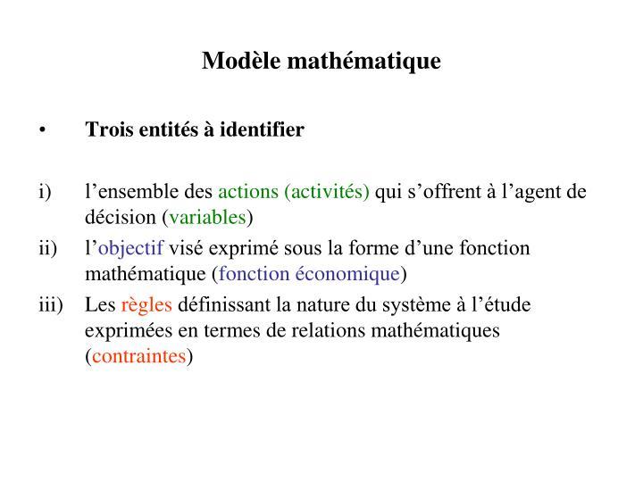 Mod le math matique
