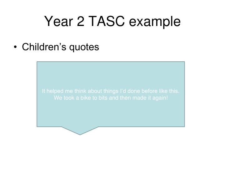 Year 2 TASC example