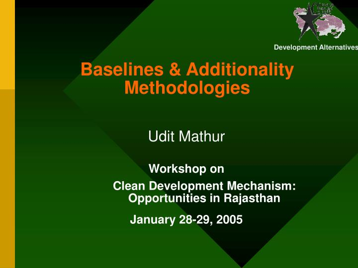 baselines additionality methodologies n.