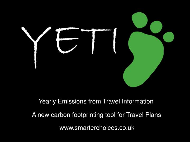 Yearly Emissions from Travel Information