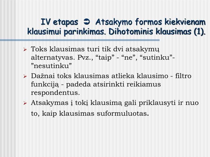 IV etapas